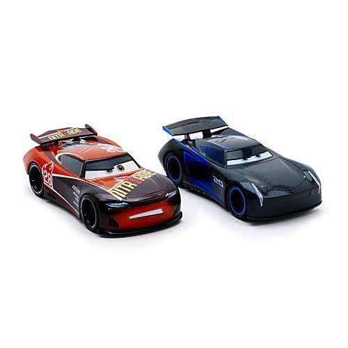 Image of DISNEY PIXAR CARS 3 - JACKSON STORM & TIM TREADLESS (EXCLUSIVE 2-PACK / TWIN PACK)