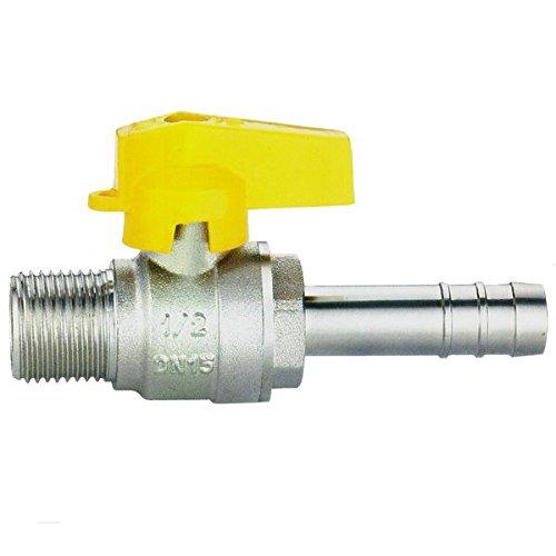 rubinetto valvola gas 1/2'' m portagomma tubo