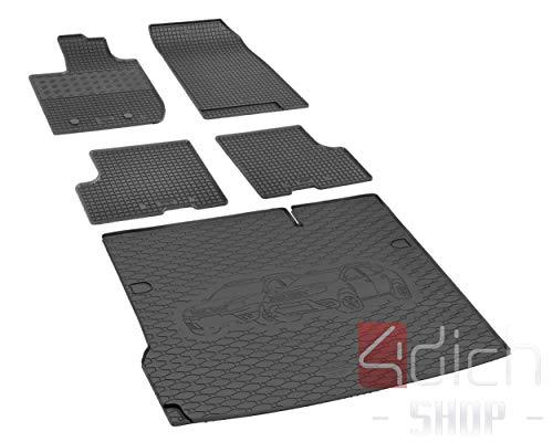 Passgenaue Kofferraumwanne und Gummifußmatten geeignet für Dacia Duster 4x2 ab 2018 - EIN Satz