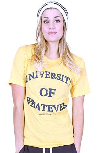 Università di qualsiasi donna Premium T shirt Unestablished Yellow Large