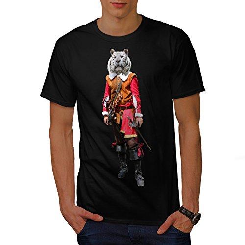Tiger Ritter Cool Komisch Kostüm Katze Herren M T-shirt | (Kostüme Cyclops Shirt T)