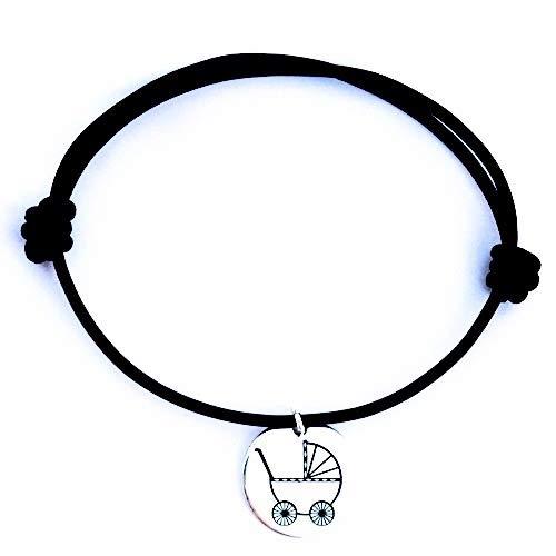 Armband aus Leder mit Sterling-Silber-Furnier