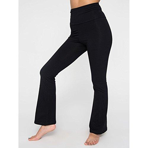 american-apparel-pantalon-de-yoga-femme-m-noir