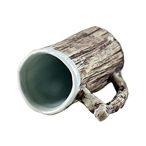 Tasses en écorce d'imitation en céramique créative