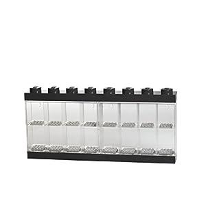 Espositore per 16 Minifigures Lego, Contenitore Impilabile da Parete o Scrivania, Nero  LEGO