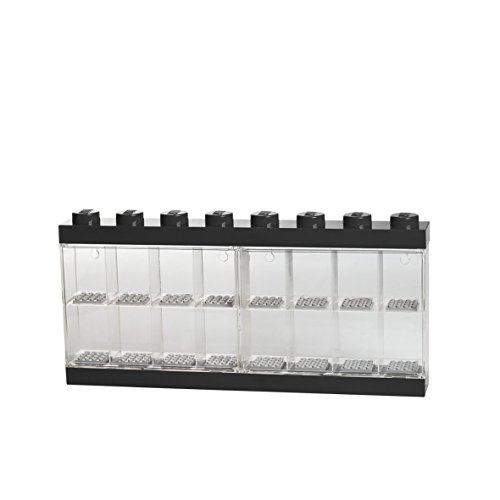 LEGO Display case for 16 Minifigures, Stackable Wall or Desk Container, Black, Color Black Room Copehagen 40660003