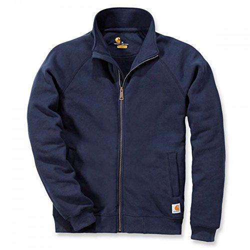 Carhartt .K350.472.S006, sudadera de cuello alto con cremallera frontal, peso medio. Color:Azul marino. Talla:grande