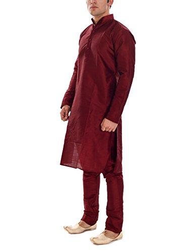 Ellegent Exports Mens Silk Kurta Churidar Maroon L Special Eid Gift For...
