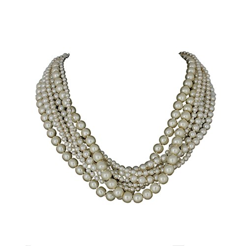 DCA White Glass Women Necklace (4237)