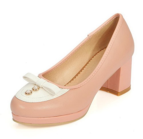 allhqfashion-womens-round-closed-toe-pull-on-pu-assorted-color-kitten-heels-pumps-shoes-pink-35