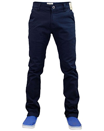 New Mens Designer Jack south Stretch Slim fit Chino Straight Leg Trousers Pants Dresses Blue