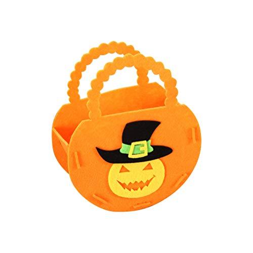 BESTOYARD Kürbis Candy Taschen Tuch Portable Halloween Goodie Geschenk DIY Tote für Kinder Orange (Kinder Für Halloween-diy-leckereien)