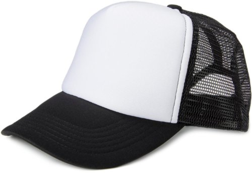 styleBREAKER 5 Panel Mesh Cap 04023007 (Weiß-Schwarz)