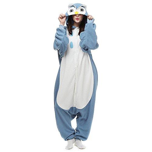 Silver_river Eule Pyjama Kostüm Erwachsene Unisex Jumpsuits Tieroutfit Tierkostüme Schlafanzug
