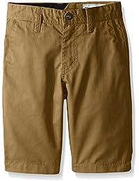 Volcom Frickin Chino Short-short Niñas   , niño, color Beige - Beige (Dark Khaki), tamaño 10 Years (Manufacturer Size:24)