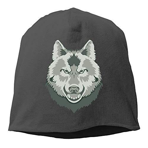 Suxinh Top Level Beanie Hat Men Women Knit Hat Wolf Head Cotton Skull Cap