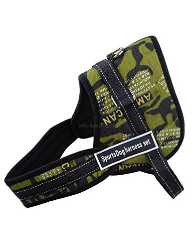 XQQX Hundeleine Harness Nylon No Pull LargeHarness Schnelle Kontrollweste Für DasTraining, Camouflagem -