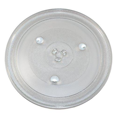 HQRP 12-3/Glas-Plattenteller für 20,3cm Tablett für Hamilton Beach p100N30p100N30al p100N30als3b hbp100N30als3ga1000ap30p3Mikrowelle Kochen Teller 315mm + HQRP Untersetzer