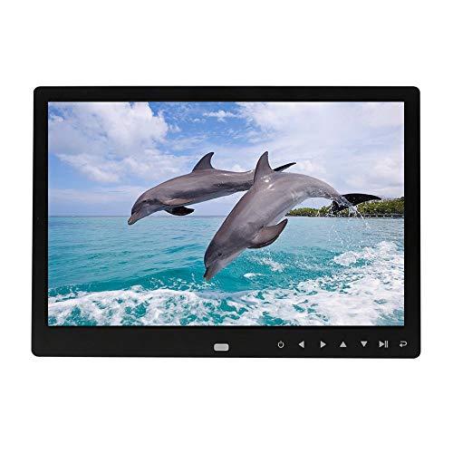 Yaoaoden Digitaler Bilderrahmen 12 Zoll Elektronischer Digitaler Bilderrahmen IPS Display mit IPS LCD 1080P MP3 MP4 Video Player weiß EU Stecker