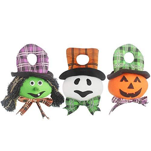 Kostüm Stofftier Kopf - LHXHL Halloween-Puppe, Karikatur Geschenke des Kürbisgeist Kopfes 3, hängende Dekoration Feiertagsverzierungen des Spielzeughauses, Halloween-Planstützenschmuck. Party, Spukhaus