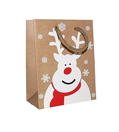 höne kleine Rentier Weihnachten Geschenk Taschen-Für Geschenke, Geschenke, Großhandel, 12Stück ()