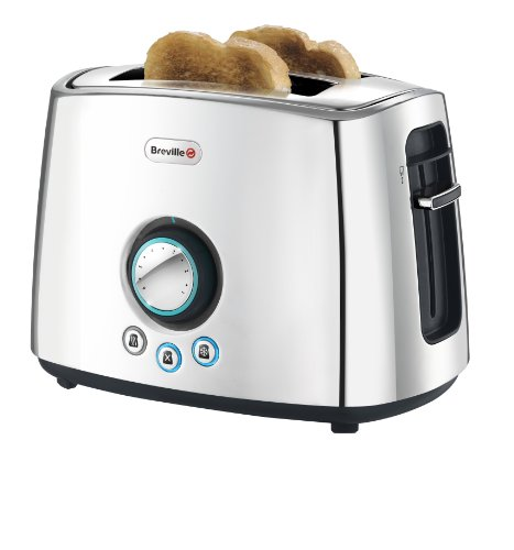 Breville VTT364 Polished Stainless Steel 2-Slice Toaster with Lift and Look