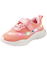 Zapatos para 0-6 Años Bebe Recién Nacido, Zolimx Bebé Niñas Niños Carta Malla Llevó Luz Luminosa Zapatillas Deportivas de Exterior