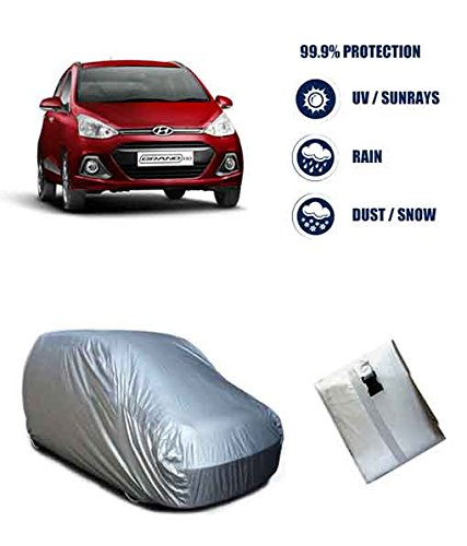 Autowheel Bright Silver Matte Car Body Cover For Hyundai Grand i10  available at amazon for Rs.549
