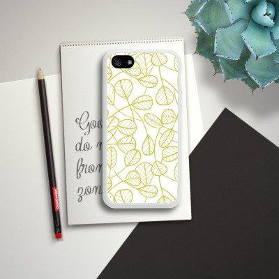 Apple iPhone 6 Housse Étui Silicone Coque Protection Feuilles Plantes Plantes Housse en silicone blanc