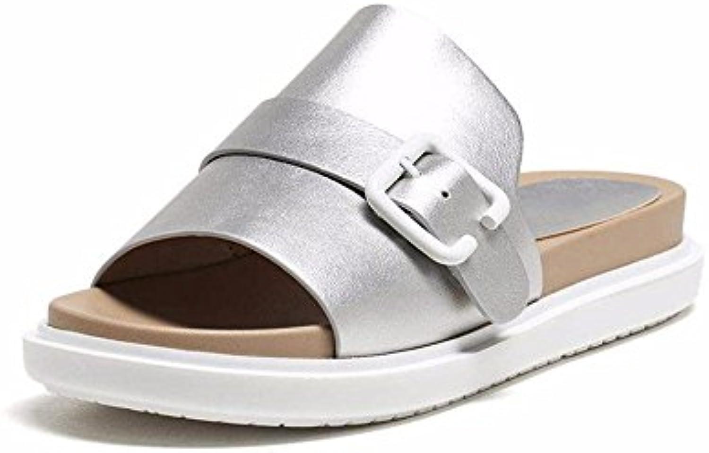 YMFIE Zapatillas de Baño Cómodas para Mujer, de Moda, Simples, Zapatillas de Natación, Zapatos de Baño, Silvery...