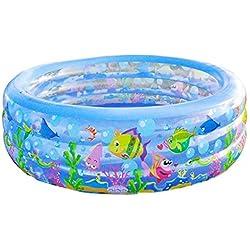 Einweichen Badewanne, Schwimmbäder Bäder aufblasbares Kinderbecken Erwachsene Whirlpool Family Pool Baby-Badewannen -blau, 185 * 50cm Tub