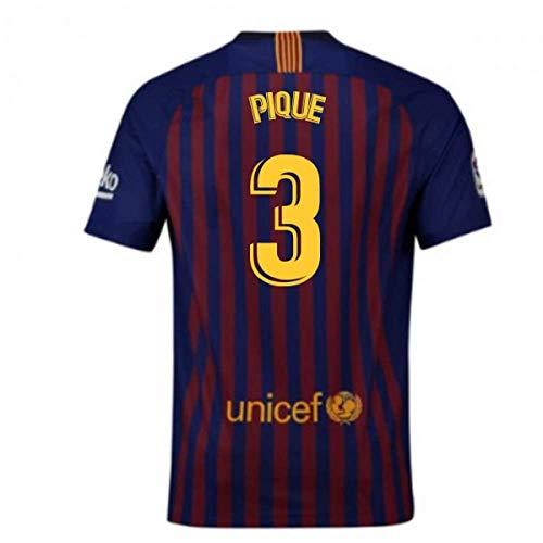 2018-2019 Barcelona Home Nike Football Soccer T-Shirt Maglia (Gerard Pique 3)