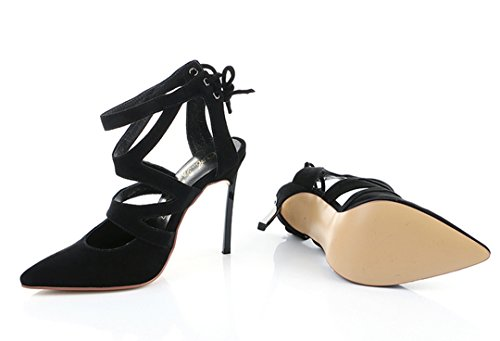 TDA , Sandales Compensées femme Noir