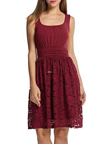 MEXI - Robe - Femme rouge foncé