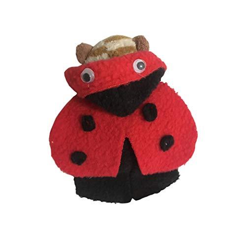 (Khemn Designer Rattenmantel (Ladybird-Kostüm) mit dickem Polarfleece, ideal für Ratte, Hamster, Eichhörnchen, Meerschweinchen)
