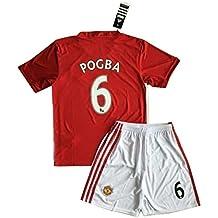 Paul Pogba # 62016–2017Manchester United camiseta & pantalones cortos para jóvenes/niños, 9-10 Años