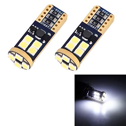 Éclairage 2 PCS T10 / W5W / 194/501 4W 280LM 6000K 12 SMD-2835 LED ampoule, lampe de lecture de voiture/lampe claire avec décodeur, CC 12V L'éclairage pour vous
