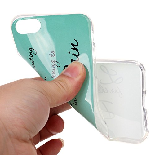 BONROY® Silikon Handy hülle für iPhone 7 (4,7 Zoll) TPU Gummi Taschen Weich Soft Back cover,TPU Silikon Gemalt Muster Handytasche Weiche Zurück Tasche Etui Bumper Kratzfeste Soft Back Cover für iPhone Leben