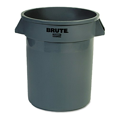 Newell Rubbermaid Brute Müll Container, rund, Kunststoff, 55 GAL, GRAY (Rubbermaid Brute Abfalleimer)