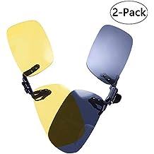 LUFF 2-Pack Clip en gafas de sol HD Day + Night Vision Gafas de