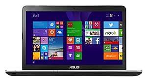 Asus N751JX-T4041T 43,9 cm (17,3 Zoll FHD) Laptop (Intel Core i7 4720HQ, 8GB RAM, 1TB HDD + 256GB SSD, NVIDIA GF 950M, Blu-ray, Win 10 Home) silber