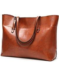 Kecartu Women'S Vintage Top Handle Satchel Handbags Shoulder Bag Totes Purse Brown By Melord