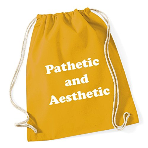 HippoWarehouse Pathetic And Aesthetic Drawstring CottonSchool Gym Bag 37cm  x 46cm de4807a4fff