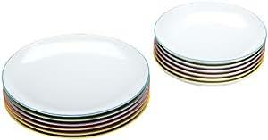 Arzberg Porzellan Cucina Colori 2100/70657/3618 Servizio da tavola 12 pezzi, in confezione regalo rossa Arzberg