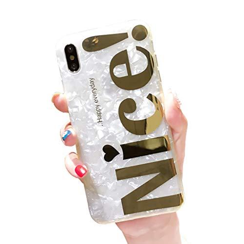 Bakicey iPhone 8 Hülle, iPhone 7 Handyhülle Weich Silikon Mode Chic Shell Muster Bling Schutzhülle Bumper Cover Kratzfeste Stoßfest Ultra Dünn Hülle Case Cover für Apple iPhone 7/8, Nice Bronzing -
