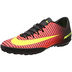 Nike Mercurialx Victory VI TF, Scarpe da Calcio Uomo, Rosso (Total Crimson/Volt-Black-Pink Blast), 42 EU