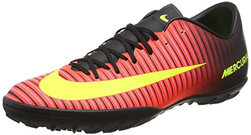 Nike - mercurialx victory vi tf, scarpe da calcio uomo, rosso (total crimson/volt-black-pink blast), 44.5 eu