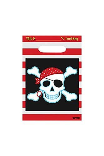 amscan Geschenktüte mit Piratenmotiv