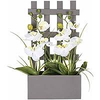 Orchidées artificielles en pot - Bois - H. 41 cm