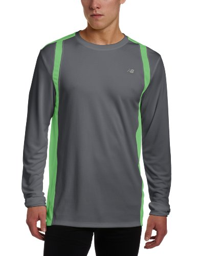 New Balance MRT2140 - Maglietta da uomo a maniche lunghe verde - Verde Poison Green